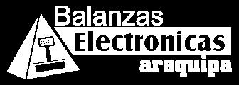 Logo de Balanzas Electrónicas Arequipa Blanco